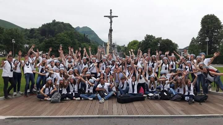 Les lycéens à Lourdes 2017