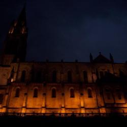 basilique du rosaie de nuit